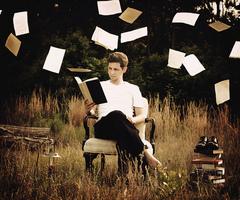 Photo- Guy reading